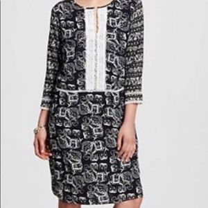 Boho Lace Trim Elephant Tunic Dress